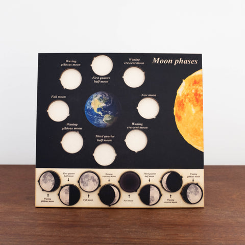 3D Wooden Puzzles- Moon Phases