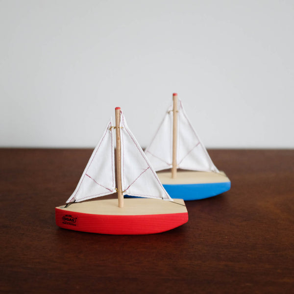 Mini Red and White Sailboat