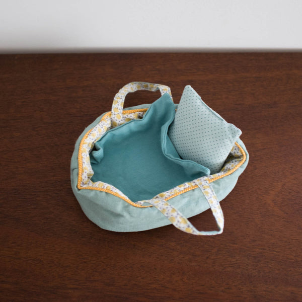 Moses Doll Bed with Bedding- Small