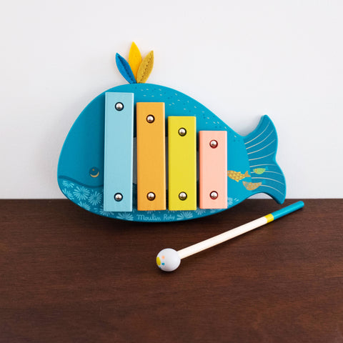 Le Voyage Whale Xylophone Wooden Toy