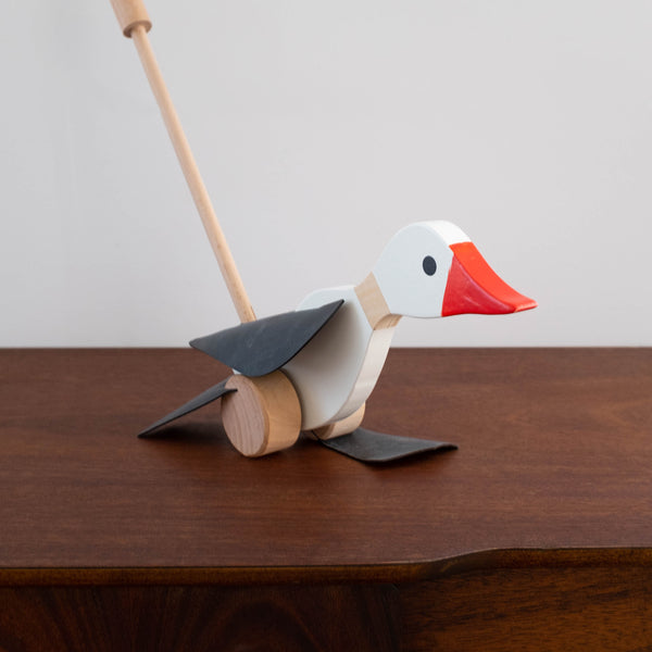 Wooden Goose Push Along Toy