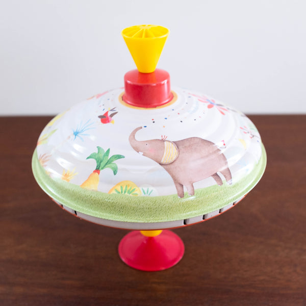 Les Papoum Large Animal Jungle Spinning Top