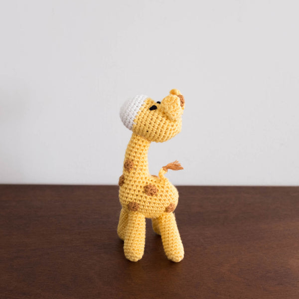 Giraffe Organic Crochet Rattle Toy