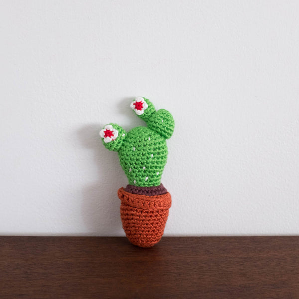 Cactus Organic Crochet Rattle Toy