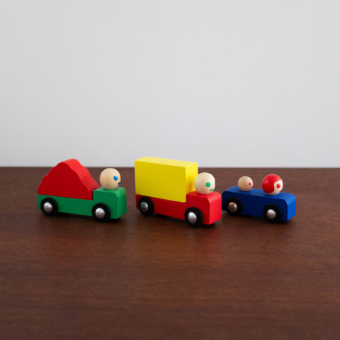 French Mini Car Set of Three
