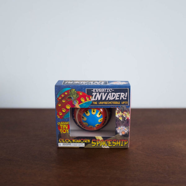 Invader Flying Saucer Tin Toy