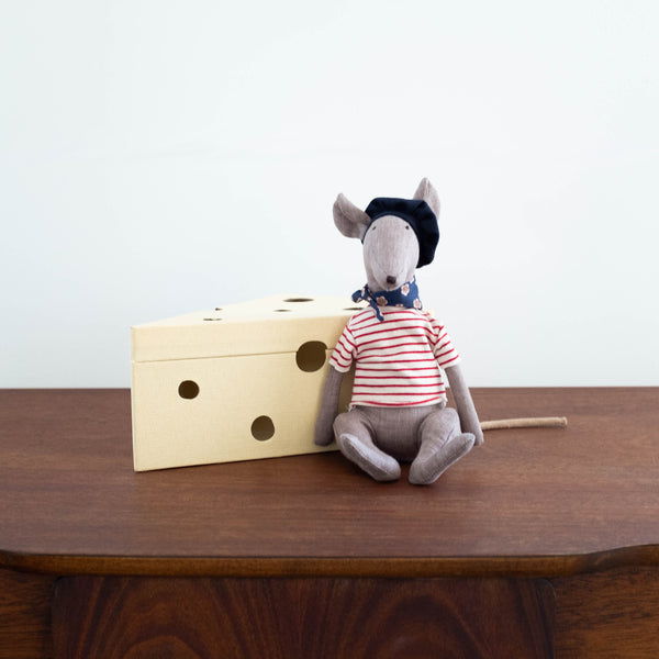 Rat in Cheese Box- Grey