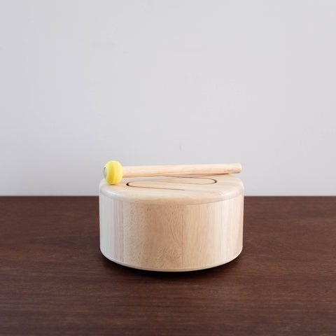 Wooden Natural Drum Toy