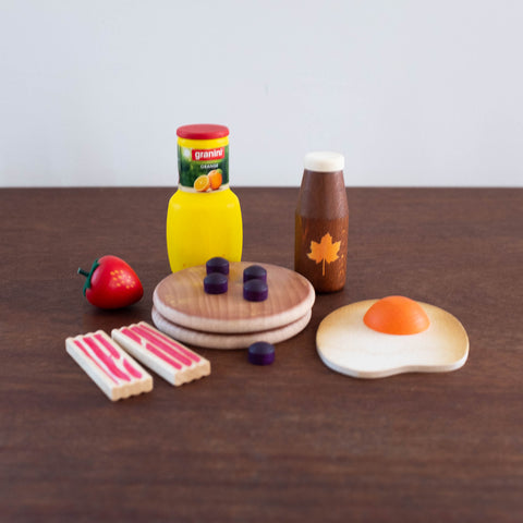 American Breakfast Wooden Set