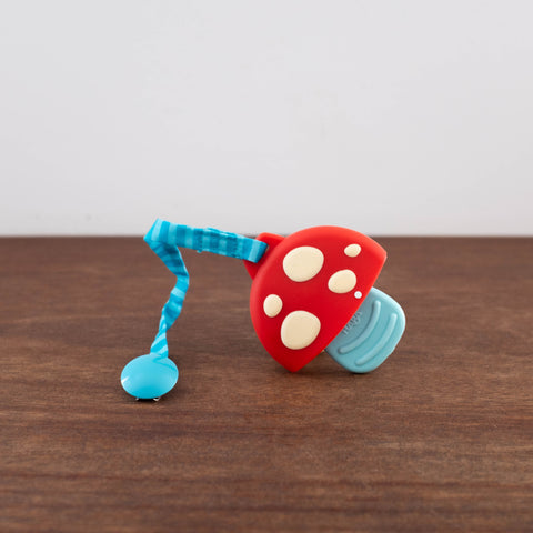 Clutching Mushroom Teether Clip Toy