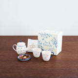 Tea and Biscuits For Two- Blue Floral