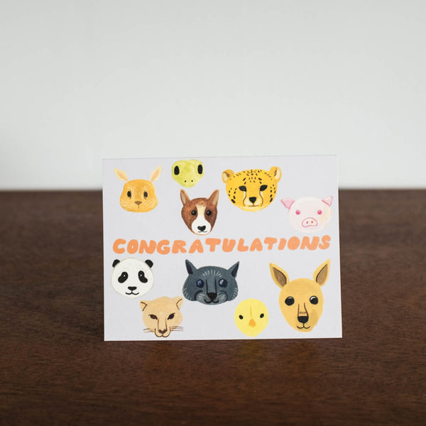 Animals Congratulations Card