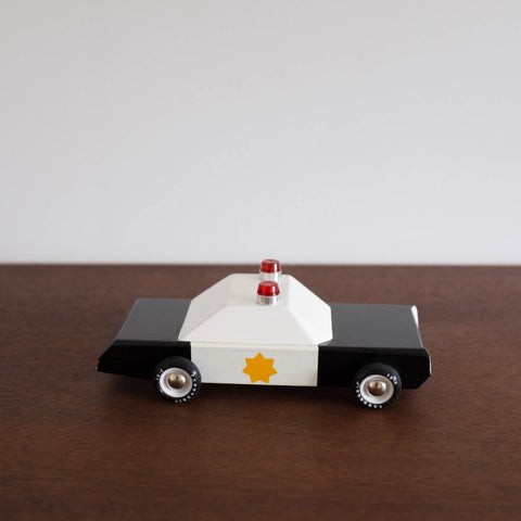 Police Cruiser Wooden Toy Car