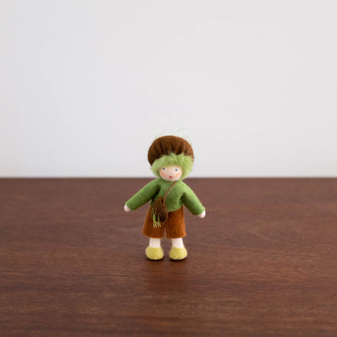 Wool Felt:  Earth Child with Green Hat