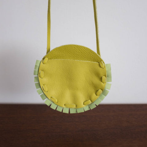 Badge Coin Pouch Bag-Lime Green