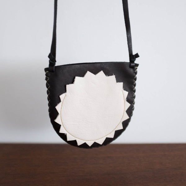 Badge Pouch Bag- Black and White