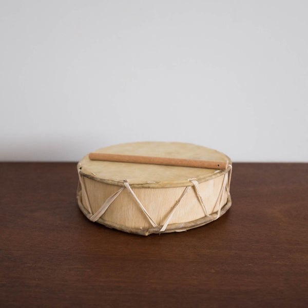 Peruvian Wooden Drum Toy- Large