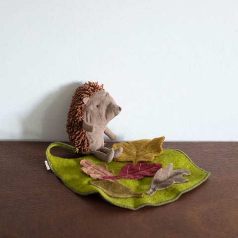 Little Hedgehog with Leaf
