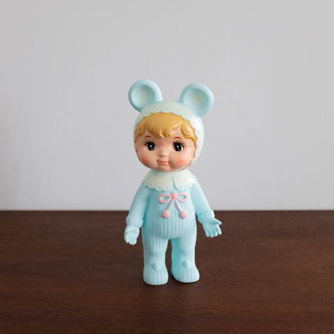 Woodland Retro Doll- Blonde Turquoise Blue
