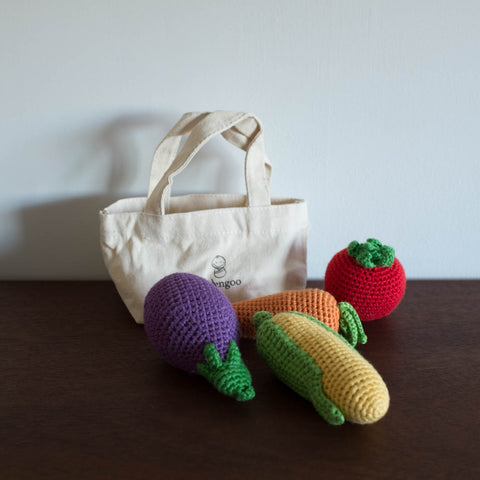 Veggie Rattle Set with Bag