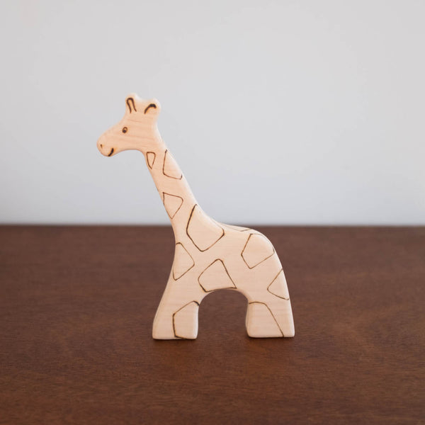 Big Wooden Animal Toy: Giraffe