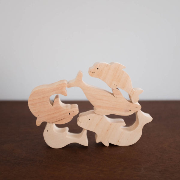 Wooden Balance Dolphin Toy Set