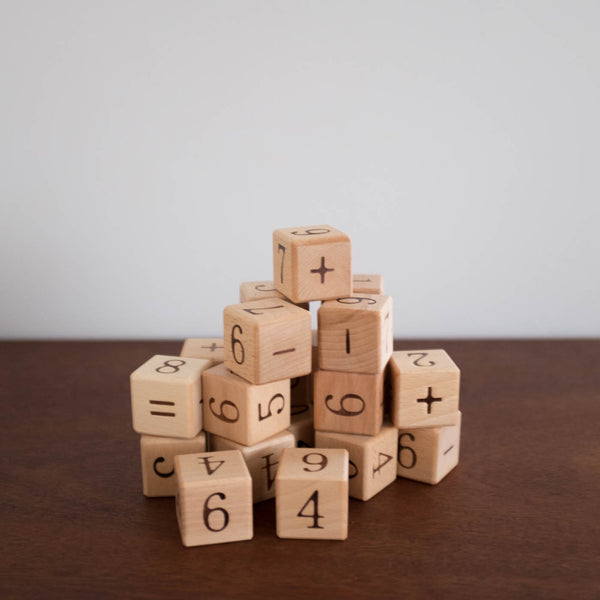 Wooden Natural Blocks: Numbers
