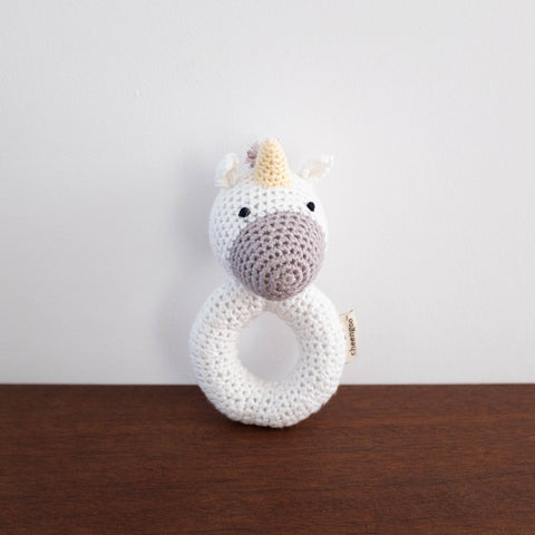 Unicorn Organic Crochet Rattle Toy