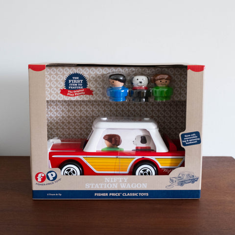 Retro Station Wagon Pull Toy