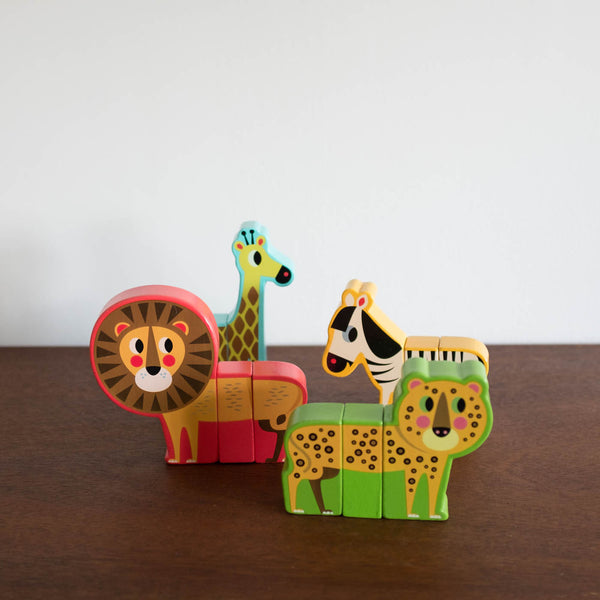 Magnetic Jungle Animals by Ingela
