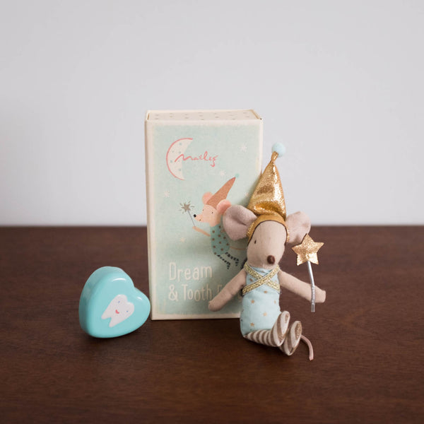 Tooth Fairy Mouse in a Box Set with Tin- Boy