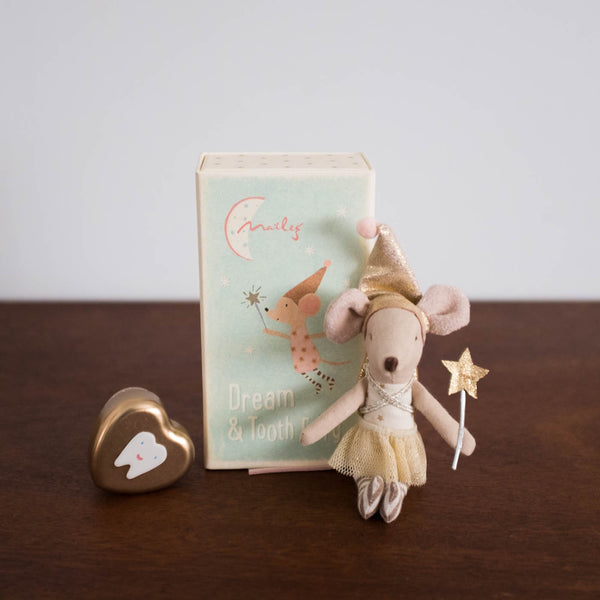 Tooth Fairy Mouse in a Box Set with Tin- Girl