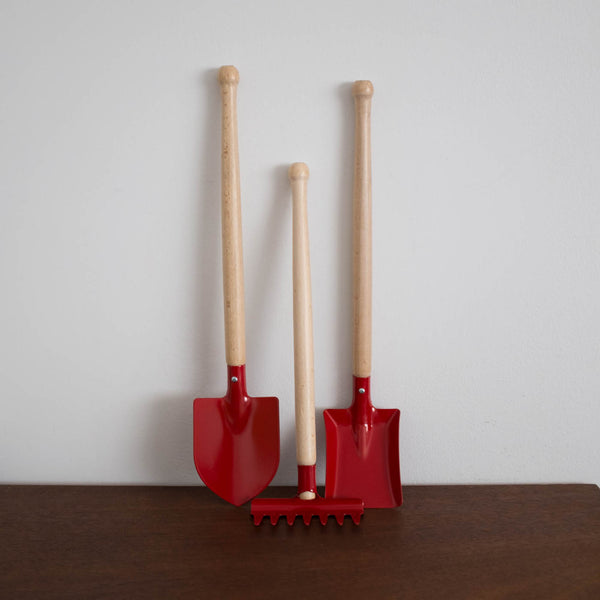 Wooden Gardening Tools Set- Red