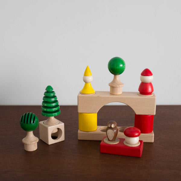 Enchanted Forest Stacking Blocks Toy