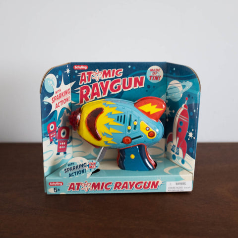 Space Atomic Ray Gun Tin Toy