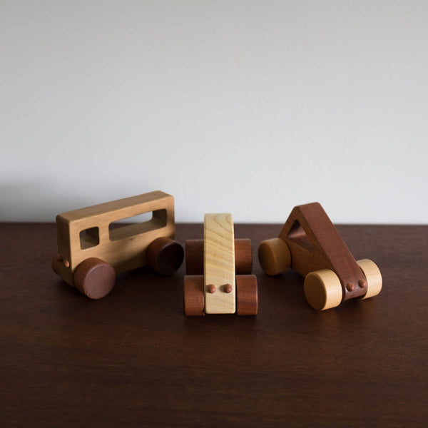Wooden Triangle Push Car