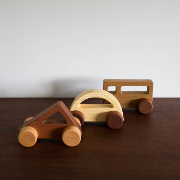 Wooden Square Push Car