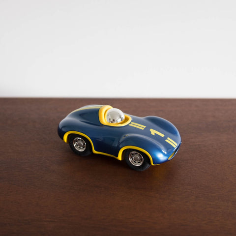 Mini Speedy Car - Blue with Yellow