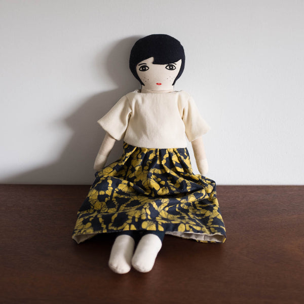 Lumi Doll- Black and Yellow Dress