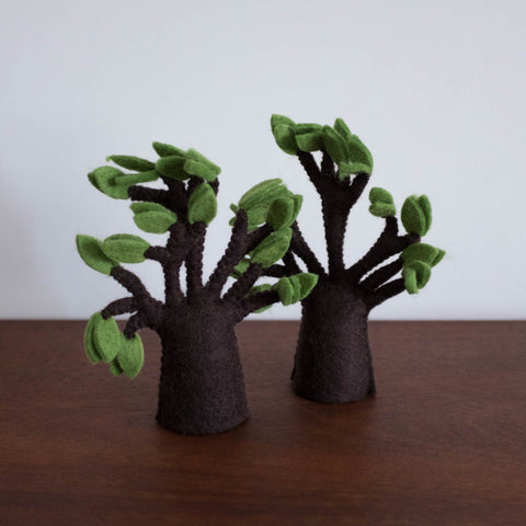Wool Felt: Baobab Tree Set of 2