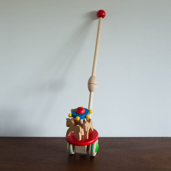 Wooden Carousel Push Toy