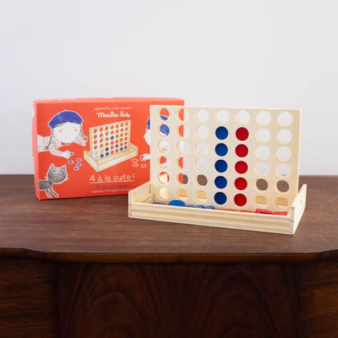 4 in a Row Wooden Game Toy