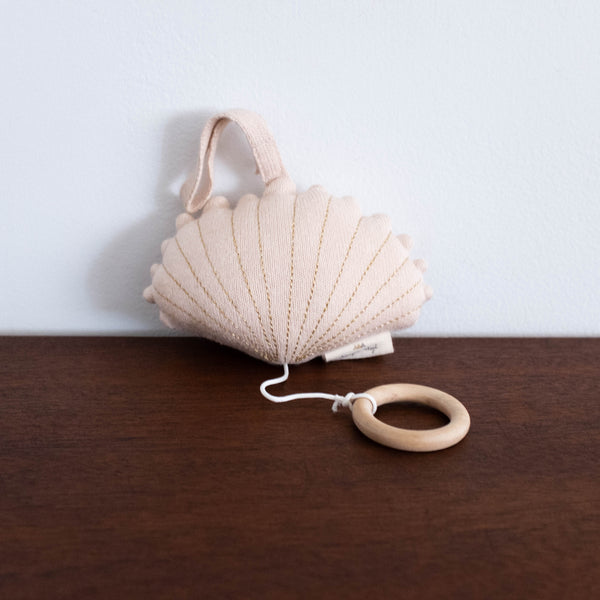 Clam Shell Music Toy- Light Rose