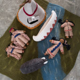Wool Felt: Native American Indian Village Play Mat Set with Dolls