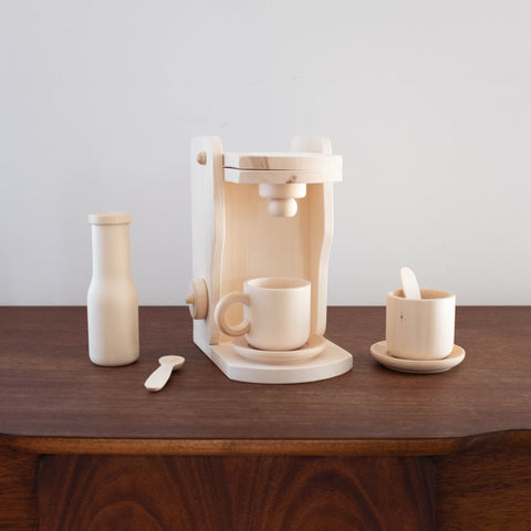 Eco Friendly Natural Wood Coffee Maker Set