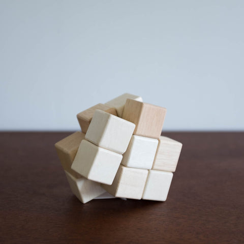 Baby Cube Puzzle - Natural