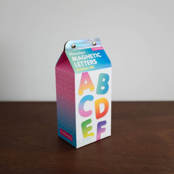 Magnetic Shapes Kit: Rainbow Wooden Alphabet
