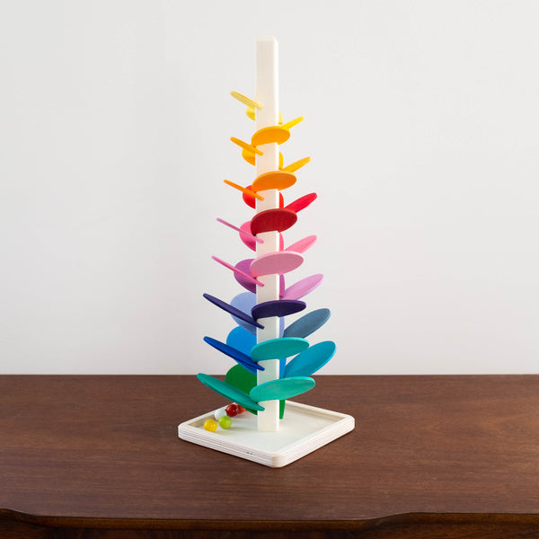 Wooden Cascading Musical Marble Tower