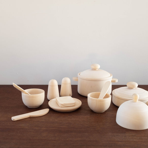 Eco Friendly Natural Wood Cooking Set