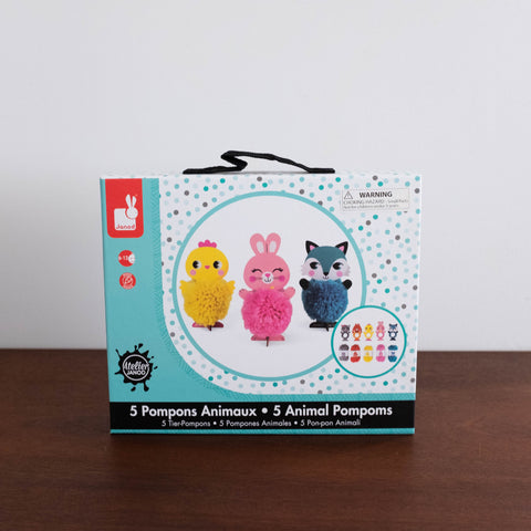 Very Cute Animals Pom Pom Suitcase Kit